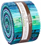 Butterfly Blooms Batik Jelly Roll Strips, Kaufman