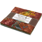 Wildlife Sanctuary 5 Batik Charm Squares, Kaufman