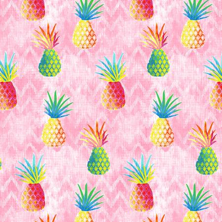 Colorful Pineapples C7445 Pink, Timeless Treasures