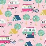 I'd Rather be Glamping C8480 Pink Glampers, Riley Blake