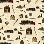 Lumberjack C8700 Cream Logging, Riley Blake