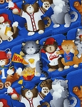 Sports Fan Cat C1143 Blue, Timeless Treasures
