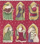 Christmas Spirit, Diane Knott Clothworks Y0698 4M Red