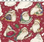 Christmas Spirit, Diane Knott Clothworks Y0702 4M Red