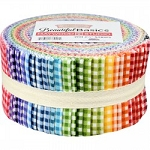 Beautiful Basics Classic Check Jelly Roll Strips, Maywood Studio