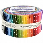 Beautiful Basics Classic Dot Jelly Roll Strips, Maywood Studio