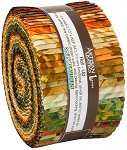 Cornucopia 10 Batik Jelly Roll Strips, Kaufman