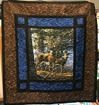 Deer Digital Panel Paneloony Quilt Kit, Hoffman