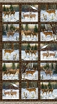 Naturescapes Pine Valley DP22855 10 Digital Deer Squares, Northcott