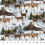 Naturescapes Pine Valley DP22857 10 Digital Deer Allover, Northcott