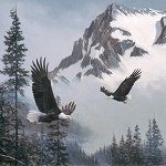 Naturescapes When Eagles Soar DP23039 94 Digital Panel, Northcott