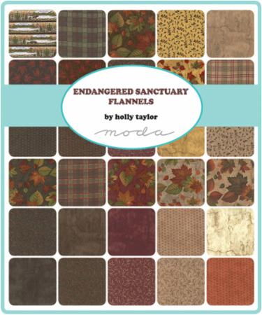 Endangered Sanctuary Flannel Layer Cake Holly Taylor By