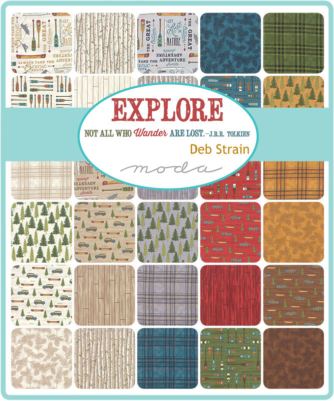 Explore Charm Pack, Deb Strain by Moda