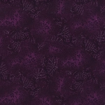 Kaufman 5573 Fusions Tone on Tone Leaf Print 5573 232 Wineberry