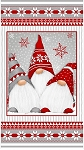 Winter Whimsey Flannel F1622P 89 24 Inch Gnome Panel, Henry Glass