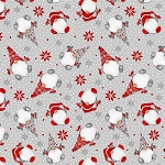 Winter Whimsey Flannel F1623 90 Tossed Gnomes Grey, Henry Glass