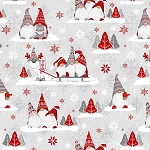 Winter Whimsey Flannel F1627 89 Group Gnomes, Henry Glass