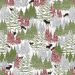 Woodland Haven Flannel F1734 68 Trees Small Animals, Henry Glass