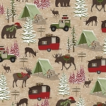 Woodland Haven Flannel F1736 33 Animal Camping, Henry Glass
