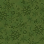 Woodland Haven Flannel F1737 66 Green Snowflakes, Henry Glass
