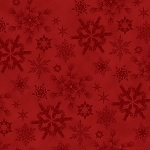 Woodland Haven Flannel F1737 88 Red Snowflakes, Henry Glass