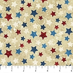 Stonehenge Stars and Stripes Flannel F20159 30 RWB Stars, Northcott