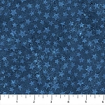 Stonehenge Stars and Stripes Flannel F20160 49 Blue Stars, Northcott