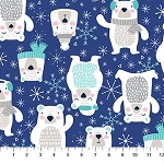 Frost Bite Flannel F22797 48 Blue Bears, Northcott