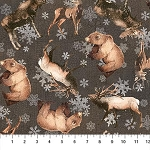 North Ridge Flannel F22826 96 Allover Animals Dark, Northcott