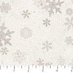 North Ridge Flannel F22827 11 White Snowflakes, Northcott