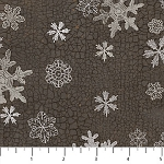 North Ridge Flannel F22827 96 Dark Snowflakes, Northcott