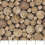 North Ridge Flannel F22828 93 Logs, Northcott