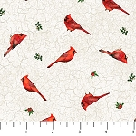 Cardinal Woods Flannel F22837 11 Mini Cardinals, Northcott