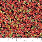 Cardinal Woods Flannel F22838 99 Berries, Northcott