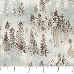 Misty Mountain Flannel F22979 61 Misty Earth Snow Trees, Northcott