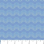 Arctic Friends Flannel F4413 43 Squiggly Lines Blue, Northcott