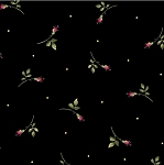 Wild Rose Flannel F7887 J Rosebuds Black, Maywood Studio