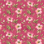 Wild Rose Flannel F7892 P Open Roses Pink, Maywood Studio
