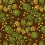 Henry Glass Flannel Northern Exposure 9429F 33 Brown Pinecone Leaves