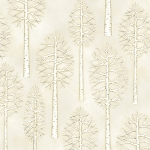 Snow Babies Flannel F9542 44 Tan Trees, Henry Glass