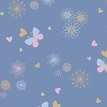 Ooh Baby Flannel F9642 11 Blue Butterflies, Henry Glass