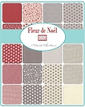 Fleur de Noel Jelly Roll, French General by Moda