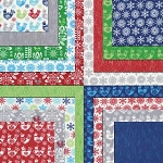 Folk Art Holiday Jelly Roll, Gina Martin by Moda