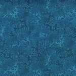 Kaufman 5573 Fusions Tone on Tone Leaf Print 5573 78 Peacock