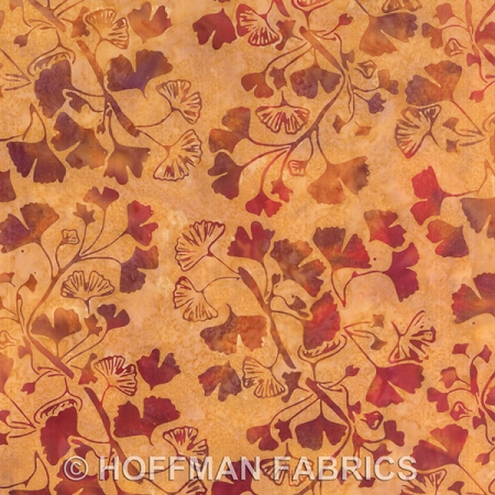 Hoffman Hand Painted Bali Batik G2180 26 Curry