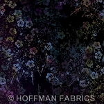 Hoffman Hand Painted Bali Batik G2231 537 Blacklight