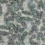 Hoffman Hand Painted Bali Batik G2243 449 Waterfall Pinecones