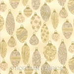 Hoffman Holiday Renaissance G8573 33G Cream/Gold Ornaments