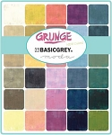 Grunge Basics New Colors Fall 2018 Charm Pack, Basic Grey by Moda