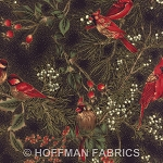 Hoffman Christmas H8821 4G Black Cardinals/Branches